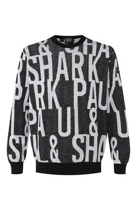 Мужской хлопковый свитер PAUL&SHARK черно-белого цвета, арт. P20P1521 | Фото 1