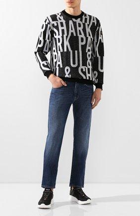 Мужской хлопковый свитер PAUL&SHARK черно-белого цвета, арт. P20P1521 | Фото 2