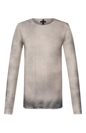 Мужской хлопковый джемпер MD 75 серого цвета, арт. MD6205 | Фото 1