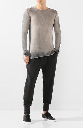 Мужской хлопковый джемпер MD 75 серого цвета, арт. MD6205 | Фото 2