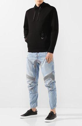 Мужские джинсы BEN TAVERNITI UNRAVEL PROJECT голубого цвета, арт. UMYA018S20DEN0014500 | Фото 2