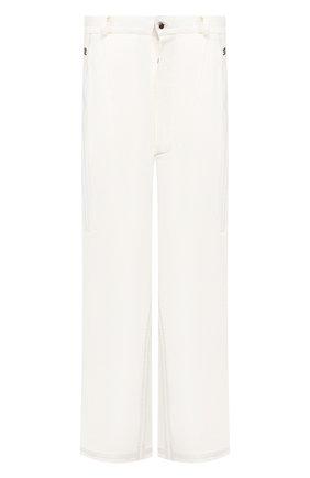 Мужской льняные брюки ISAAC SELLAM белого цвета, арт. ELAB0RE-LIN0 | Фото 1