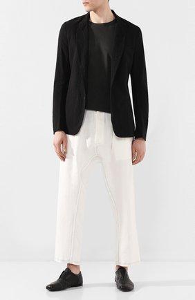 Мужской льняные брюки ISAAC SELLAM белого цвета, арт. ELAB0RE-LIN0 | Фото 2