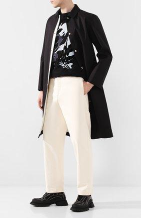 Мужской хлопковые брюки JIL SANDER кремвого цвета, арт. JPUQ311001-MQ250800 | Фото 2