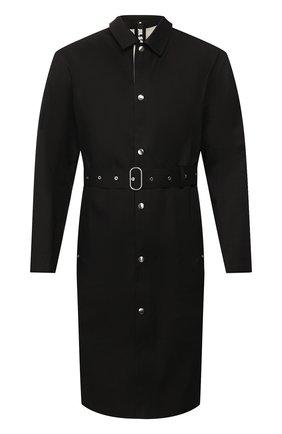 Мужской хлопковый плащ JIL SANDER черного цвета, арт. JPUQ475509-MQ246000 | Фото 1
