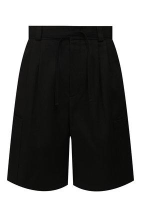 Мужские хлопковые шорты JIL SANDER черного цвета, арт. JSMQ311831-MQ241600 | Фото 1
