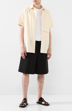 Мужские хлопковые шорты JIL SANDER черного цвета, арт. JSMQ311831-MQ241600 | Фото 2