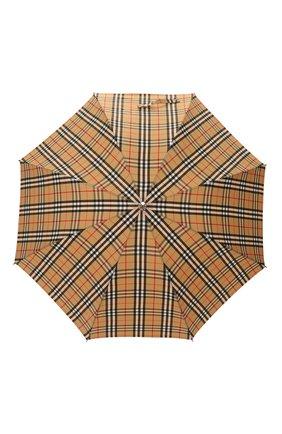 Мужской зонт-трость BURBERRY бежевого цвета, арт. 8025464 | Фото 1 (Материал: Текстиль, Синтетический материал)