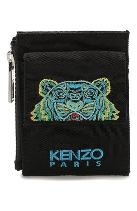 Мужской текстильный футляр для кредитных карт KENZO черного цвета, арт. FA55PM306F20 | Фото 1