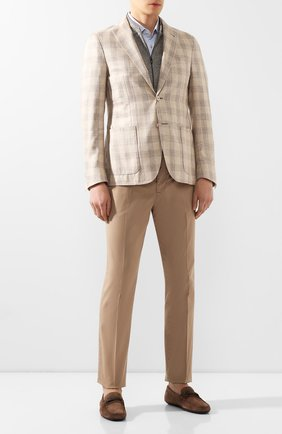 Мужские замшевые мокасины CORNELIANI коричневого цвета, арт. 85TM52-0120924 | Фото 2