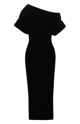 Женское платье-миди CHRISTOPHER KANE черного цвета, арт. CFW DR2582 STRETCH VELVET | Фото 1