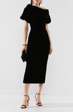 Женское платье-миди CHRISTOPHER KANE черного цвета, арт. CFW DR2582 STRETCH VELVET | Фото 2