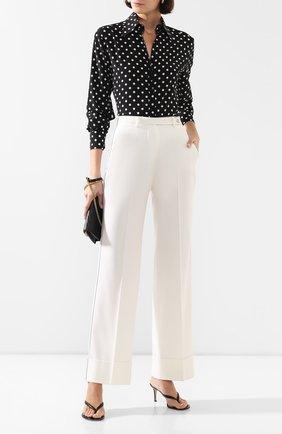 Женские кашемировые брюки KITON белого цвета, арт. D49106K09R11 | Фото 2