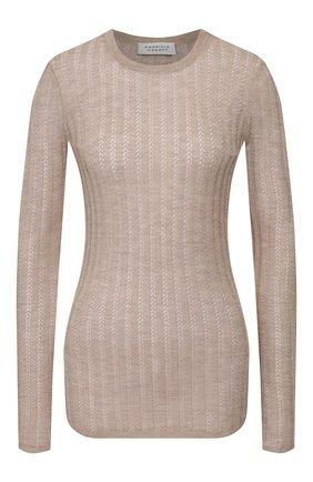 Женская пуловер из смеси кашемира и шелка GABRIELA HEARST бежевого цвета, арт. 320906 A003 | Фото 1