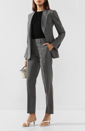 Женские шерстяные брюки GABRIELA HEARST серого цвета, арт. 320204 W017 | Фото 2