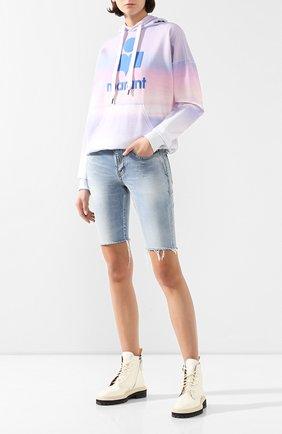 Женская хлопковое худи ISABEL MARANT ETOILE разноцветного цвета, арт. SW0031-20P033E/MANSEL   Фото 2