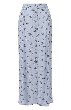 Женская юбка из вискозы GANNI голубого цвета, арт. F4531 | Фото 1