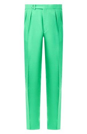 Мужской шелковые брюки RALPH LAUREN зеленого цвета, арт. 798794553 | Фото 1