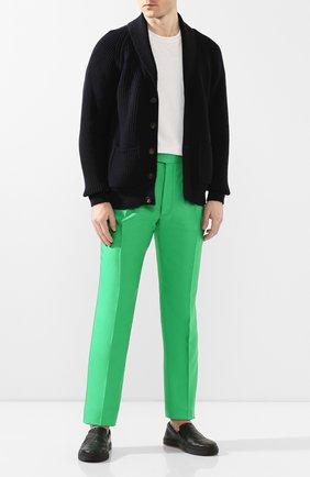 Мужской шелковые брюки RALPH LAUREN зеленого цвета, арт. 798794553 | Фото 2