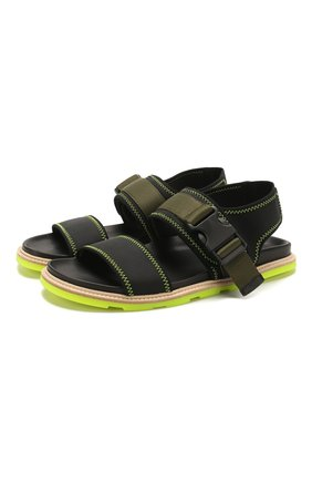 Мужские текстильные сандалии VIC MATIE черного цвета, арт. 1X8194U.X02C5ABQ55 | Фото 1