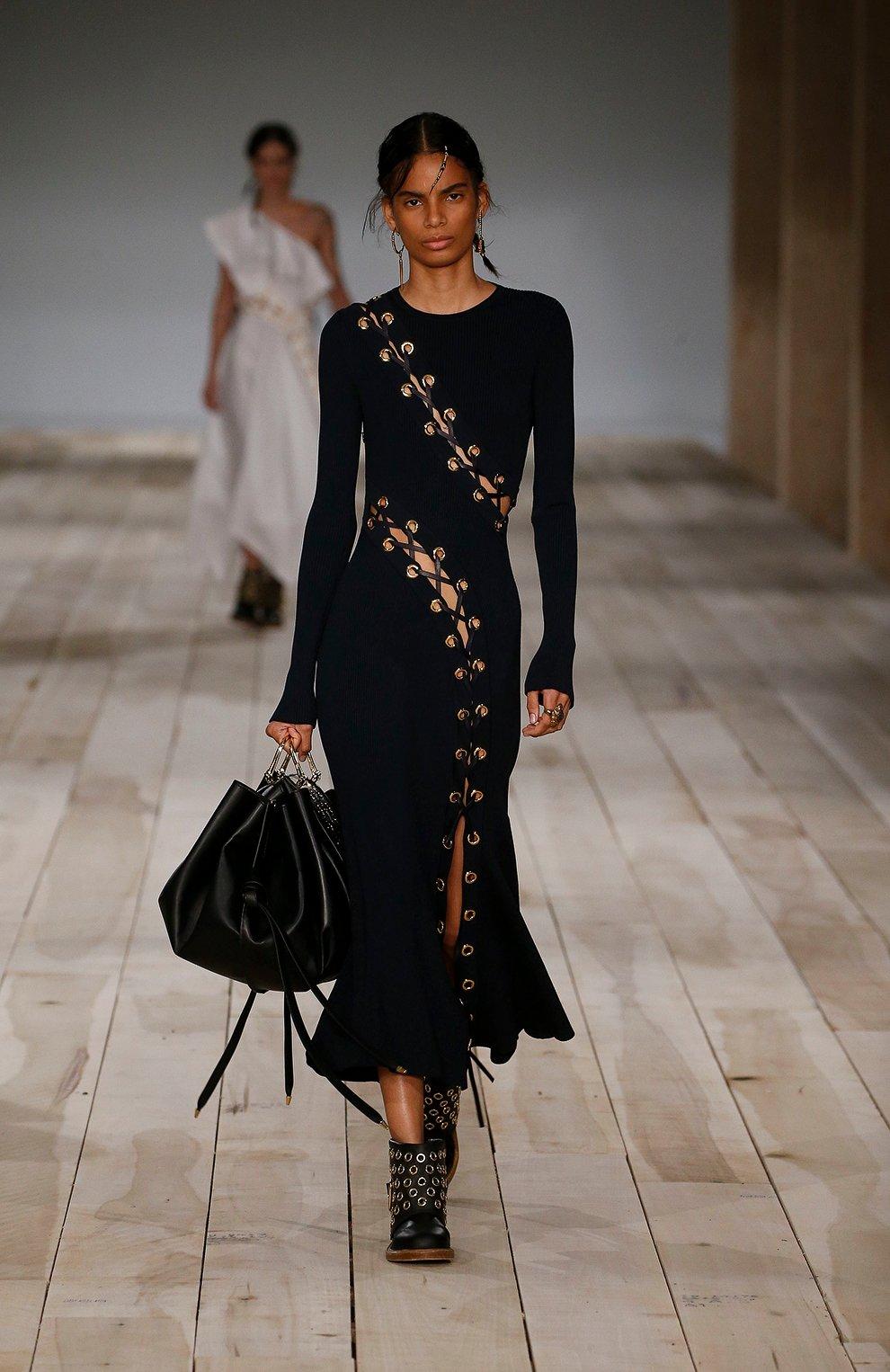 Женское платье ALEXANDER MCQUEEN темно-синего цвета, арт. 623579/Q1A0X | Фото 6