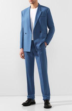 Мужской кашемировые брюки BOTTEGA VENETA голубого цвета, арт. 598457/VKH90 | Фото 2