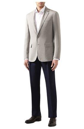 Мужской пиджак из шелка и льна RALPH LAUREN светло-серого цвета, арт. 798794546 | Фото 2