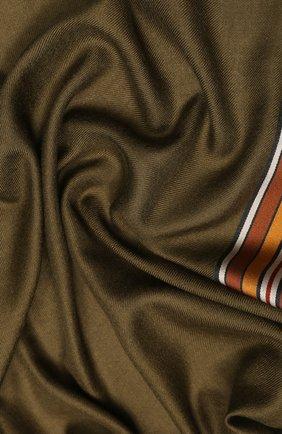 Женская шаль из смеси шелка и кашемира LORO PIANA хаки цвета, арт. FAI2568 | Фото 2