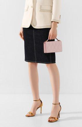 Женская сумка gv3  GIVENCHY розового цвета, арт. BB607KB08Z | Фото 2