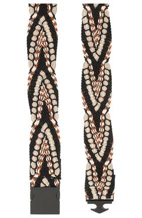 Женский текстильный ремень DOROTHEE SCHUMACHER черного цвета, арт. 750802/W0VEN STRETCH | Фото 2