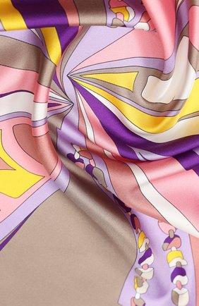 Женский шелковый платок EMILIO PUCCI фиолетового цвета, арт. 0HGB52/0HC52 | Фото 2