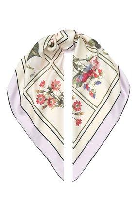 Женский шелковый платок BURBERRY бежевого цвета, арт. 8027268 | Фото 1