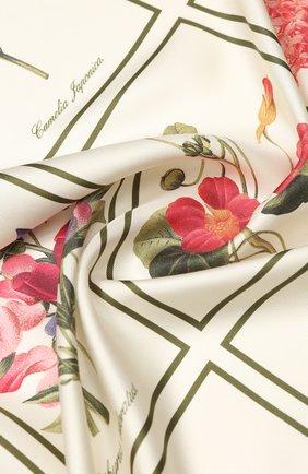 Женский шелковый платок BURBERRY бежевого цвета, арт. 8027268 | Фото 2