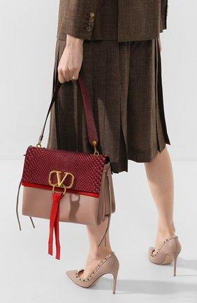 Женская сумка valentino garavani vring medium VALENTINO бордового цвета, арт. TW2B0E02/JJD/PBIV | Фото 2