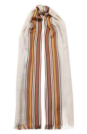 Мужские шарф из смеси шелка и кашемира LORO PIANA светло-бежевого цвета, арт. FAL1202 | Фото 1