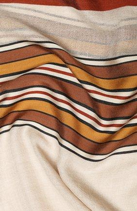 Мужские шарф из смеси шелка и кашемира LORO PIANA светло-бежевого цвета, арт. FAL1202 | Фото 2