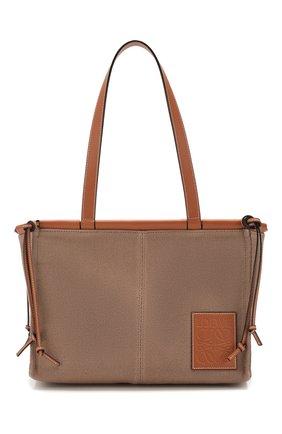 Женский сумка-тоут cushion loewe x paula's ibiza LOEWE светло-коричневого цвета, арт. 330.02AA93 | Фото 1
