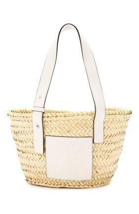 Женская сумка basket small LOEWE бежевого цвета, арт. A223S93X04   Фото 1 (Материал: Растительное волокно; Размер: small; Сумки-технические: Сумки top-handle)