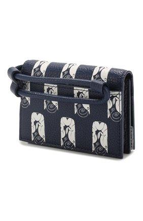 Женский кожаный футляр для кредитных карт KENZO темно-синего цвета, арт. FA55PM901L41 | Фото 2