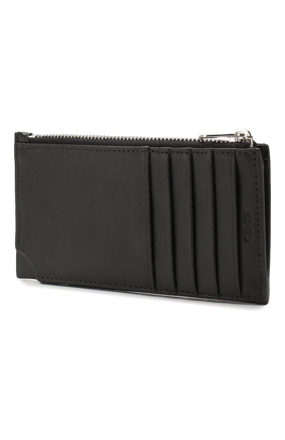Женский кожаный футляр для кредитных карт KENZO черного цвета, арт. FA55PM706L37   Фото 2