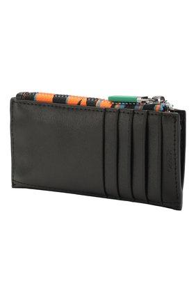 Женский кожаный футляр для кредитных карт KENZO черного цвета, арт. FA55PM316L48 | Фото 2