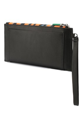 Женские кожаный кошелек KENZO черного цвета, арт. FA55PM311L48   Фото 2