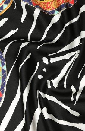 Женский шелковый платок DOLCE & GABBANA черно-белого цвета, арт. FN093R/GDV54 | Фото 2
