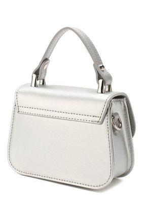 Детская кожаная сумка MONNALISA серебряного цвета, арт. 175BAS | Фото 2
