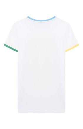 Детская хлопковая футболка MUMOFSIX разноцветного цвета, арт. MOS20STP_09 | Фото 2