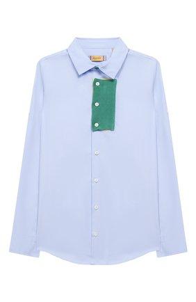 Детское рубашка MUMOFSIX разноцветного цвета, арт. MOS20STP_23 | Фото 1