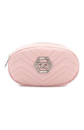 Детская поясная сумка PHILIPP PLEIN розового цвета, арт. S20A GBA0149 PTE003N | Фото 1