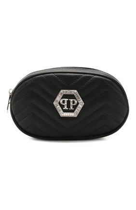 Детская поясная сумка PHILIPP PLEIN черного цвета, арт. S20A GBA0149 PTE003N | Фото 1
