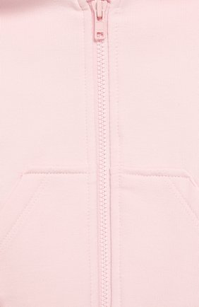 Детский хлопковая толстовка MONNALISA розового цвета, арт. 395800R6 | Фото 3
