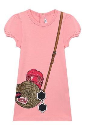 Женский хлопковое платье MARC JACOBS (THE) розового цвета, арт. W02138 | Фото 1